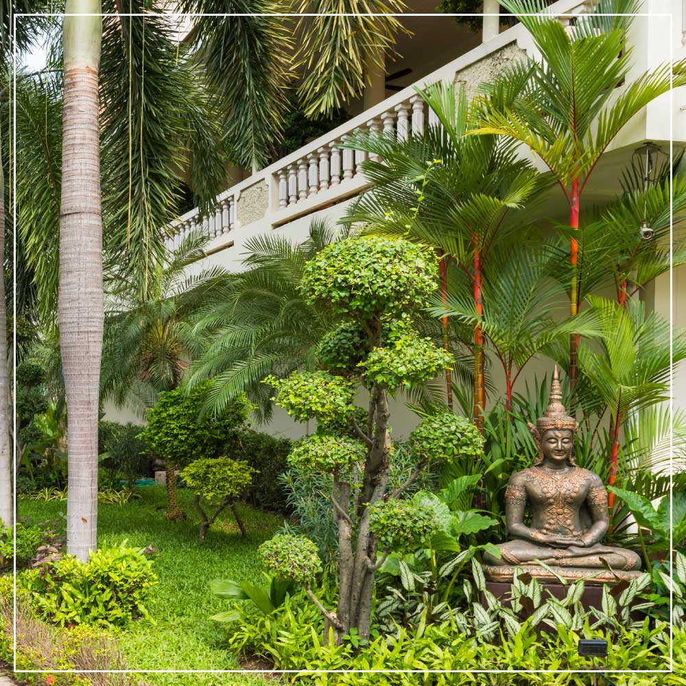 Thai Garden Resort Pattaya Thailand. A tropical garden paradise in the heart of the city