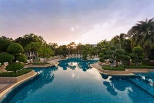 Lagoon Pool And Gardens of the Thai Garden Resort in Pattaya, Thailand