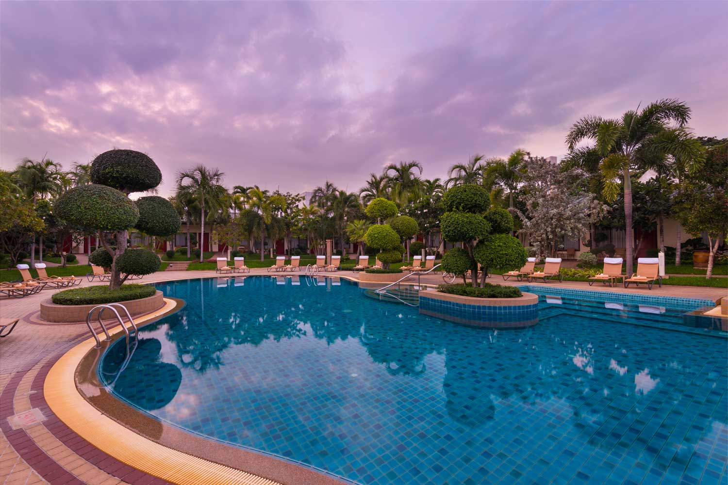 Lagoon Pool and Garden of Thai Garden Resort Pattaya Thailnd